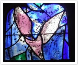 Detail from Church window by Marc Chagall