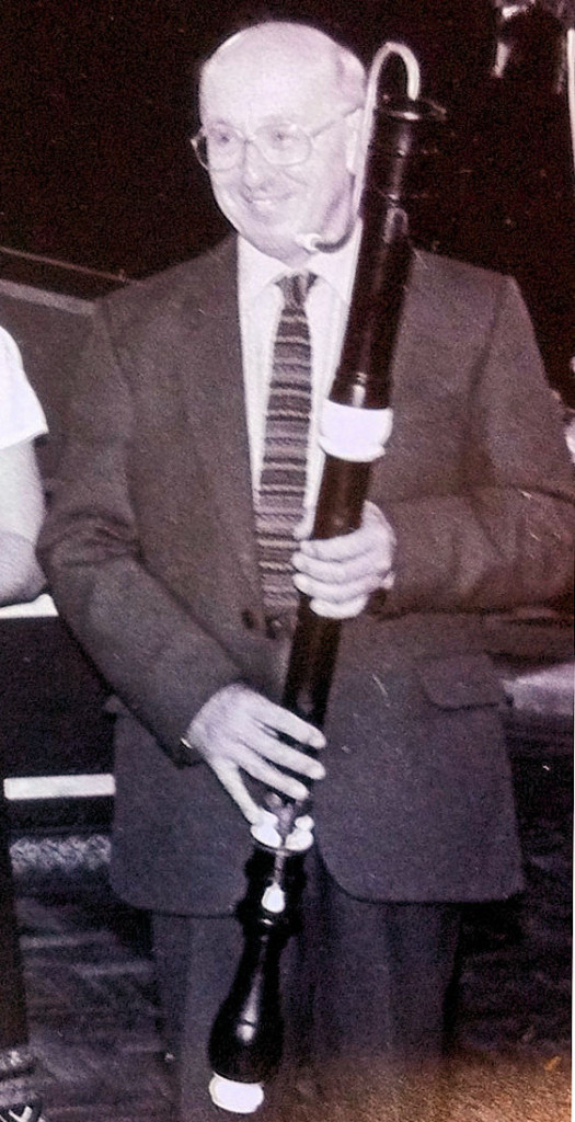 Paul Clark plying the Bressan bass at the Chester Festival in the 1980s