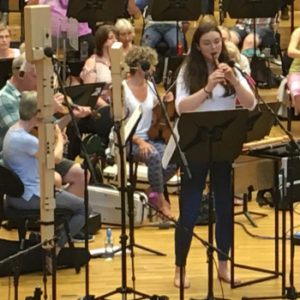 Sophie Westbrooke rehearsing Fitkin Concerto